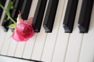 ピアノ 綺麗な花